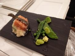 Le saumon en dînatoire