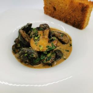 Canapé gourmand aux champignons